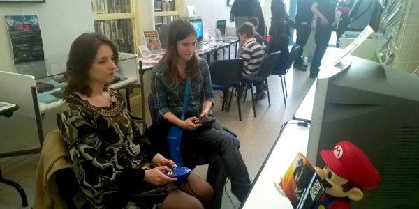 Atelier lors de l'exposition retrogaming de St Apollinaire