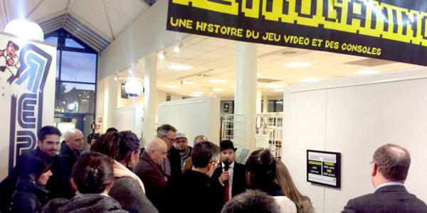 Inauguration de l'exposition retrogaming de St Apollinaire