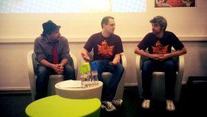 Conférence sur les jeux vidéo indépendants avec la Alice Team lors de Borne to Replay 2