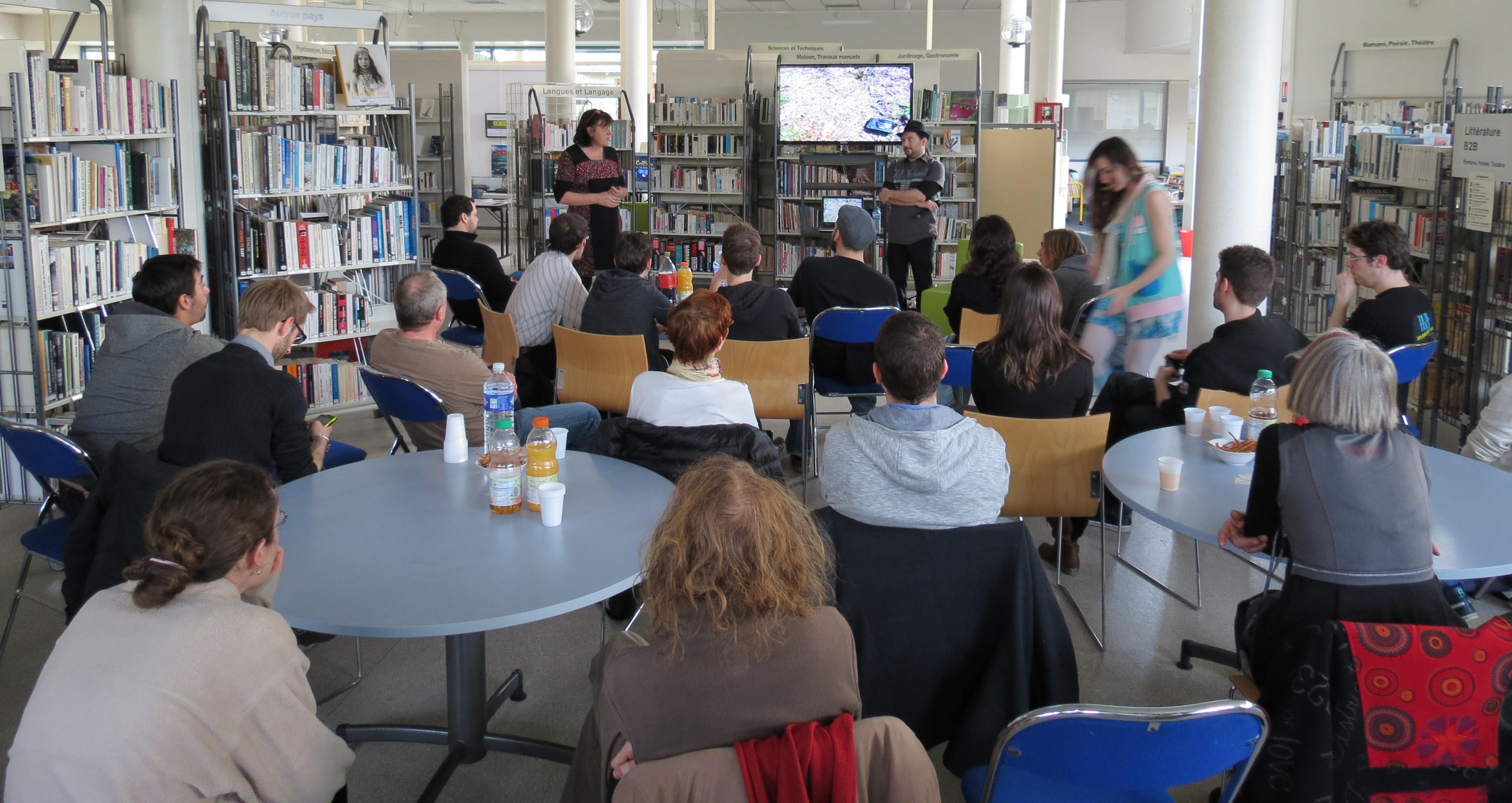 Une conférence jeu vidéo (historique du média) à la médiathèque de St Apollinaire